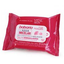 Babaria Vital Skin Toallitas Desmaquilladoras De Agua Micelar Pack 20U.