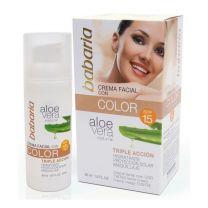 Babaria Aloe Crema Facial Con Color SPF15 50ml