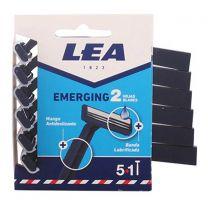 Lea Emerging 2 Hojas Cuchillas Desechables Pack 5U. + 1 Gratis