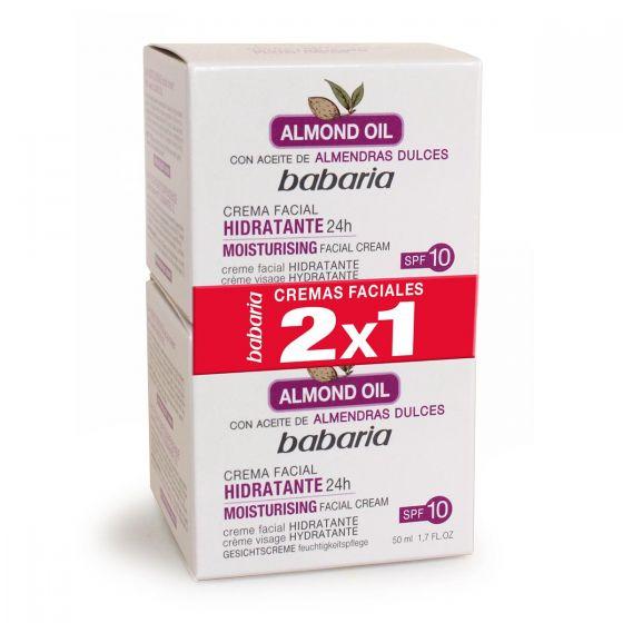 Babaria Almond Aceite Facial Hidratante Crema 2X1 50ml