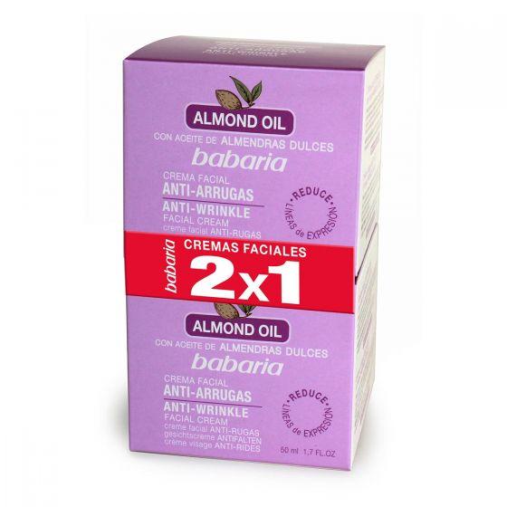 Babaria Almond Aceite Facial Crema Antiarrugas 2X1 50ml